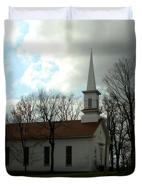 Church In The Country Duvet Cover
