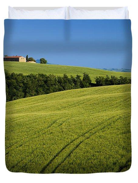 Church In The Field Duvet Cover by Brian Jannsen