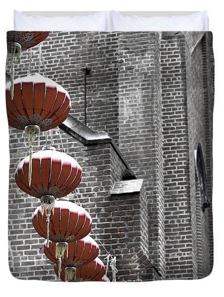 Church Lanterns Duvet Cover