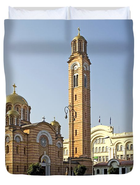 Church Of Jesus The Saviour Duvet Cover by Ladi  Kirn