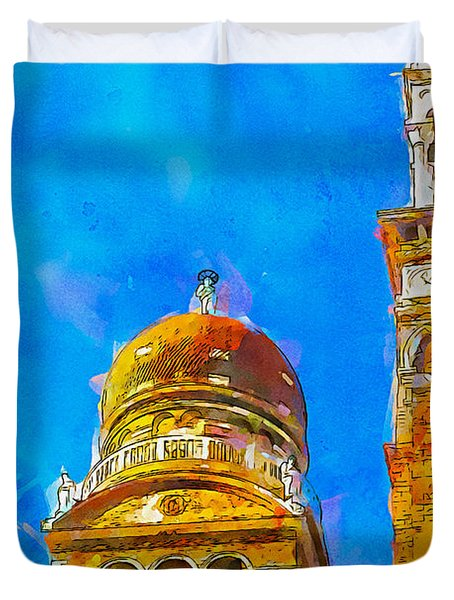 Church Of Madonna Dell'orto Duvet Cover by Greg Collins