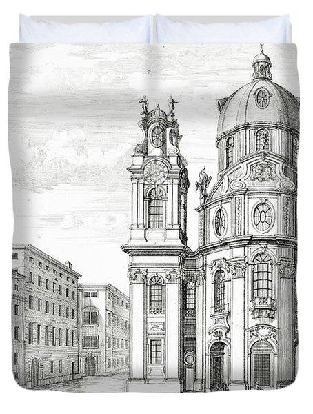 Church Of Notre Dame, Salzburg Duvet Cover