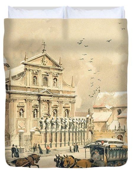 Church Of St Peter And Paul In Krakow Duvet Cover by Stanislawa Kossaka