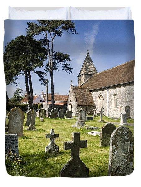 Church Of St John The Evangelist - Kenn - North Somerset Duvet Cover by Rachel Down
