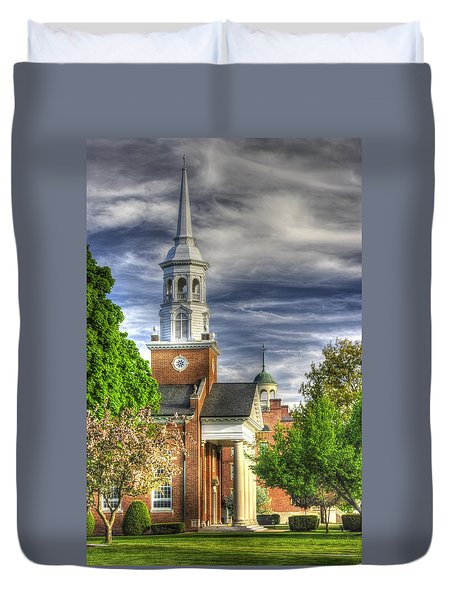 Church Of The Abiding Presence 1a - Lutheran Theological Seminary At Gettysburg Spring Duvet Cover by Michael Mazaika