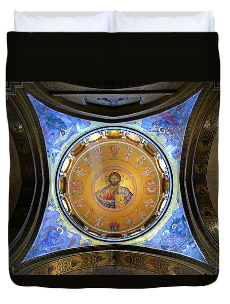 Church Of The Holy Sepulchre Catholicon Duvet Cover by Stephen Stookey