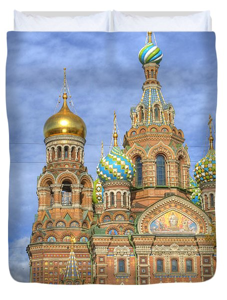 Church Of The Saviour On Spilled Blood. St. Petersburg. Russia Duvet Cover by Juli Scalzi