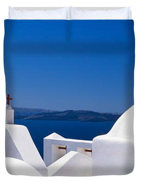 Church, Oia, Santorini, Cyclades Duvet Cover