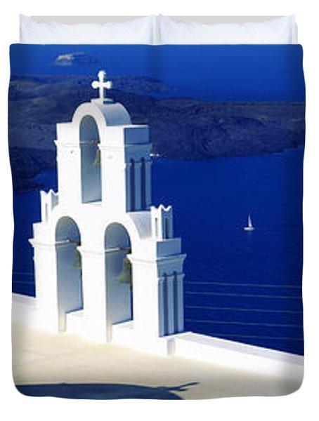 Church On An Island, Agios Theodoros Duvet Cover