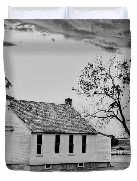 Church On The Plains Duvet Cover by Marty Koch