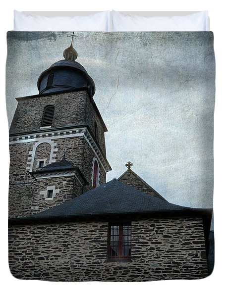 Church Saint Malo Duvet Cover
