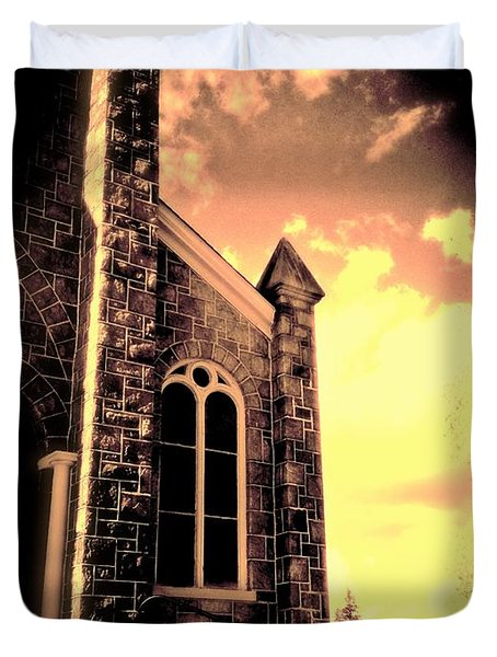 Church Vignette Against Sky Duvet Cover