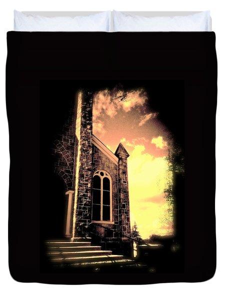 Church Vignette Against Sky Duvet Cover