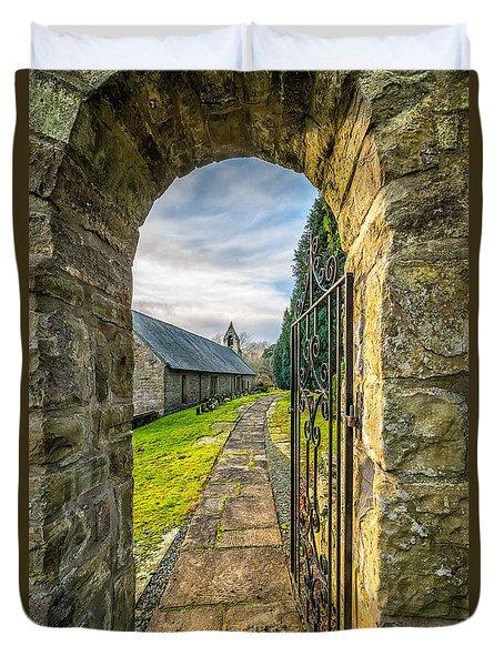 Church Way Duvet Cover by Adrian Evans