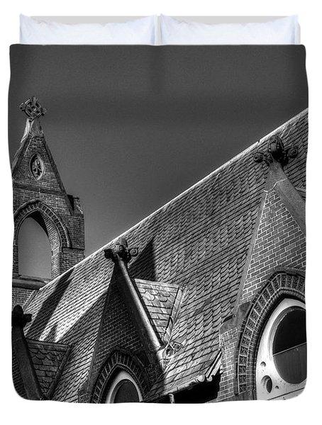 Churches On Church Street Duvet Cover