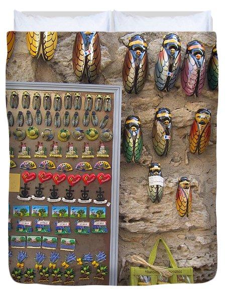 Cicada Souvenirs Duvet Cover by Pema Hou