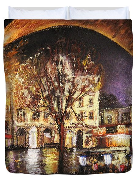 Cieszyn At Night Duvet Cover