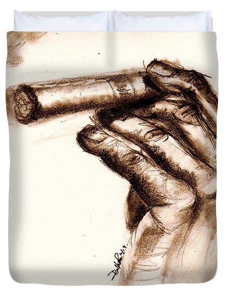 Cigar Duvet Cover by Dallas Roquemore