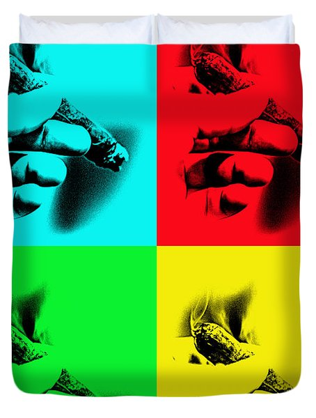 Cigar Pop Art Duvet Cover