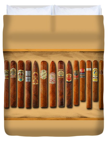 Cigar Sampler Painting Duvet Cover