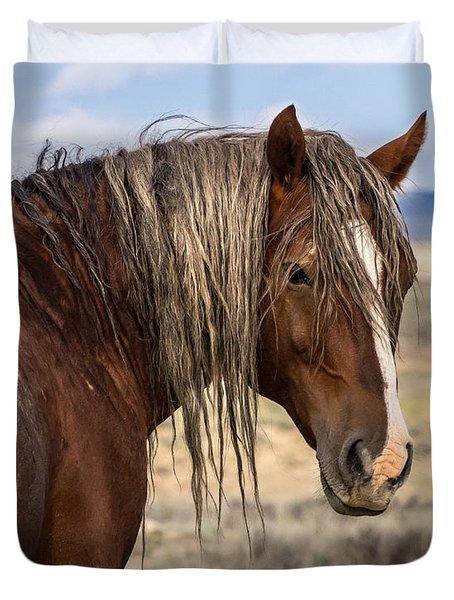Cimarron - Wild Mustang Stallion Duvet Cover