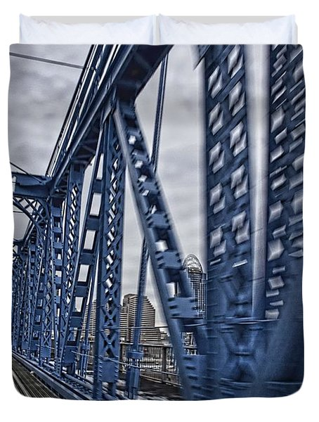 Cincinnati Bridge Duvet Cover