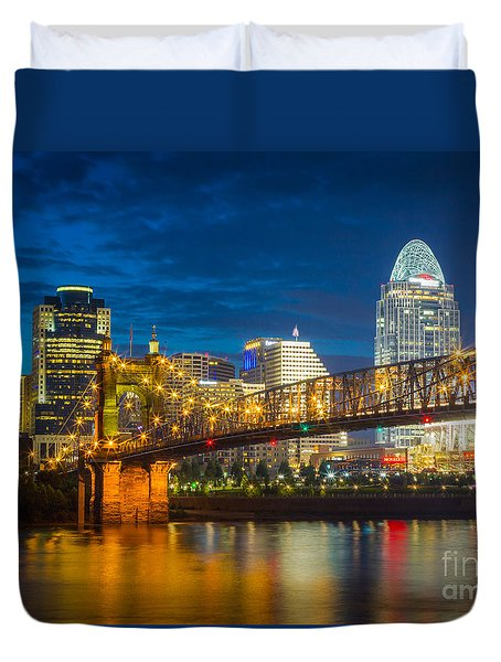 Cincinnati Downtown Duvet Cover