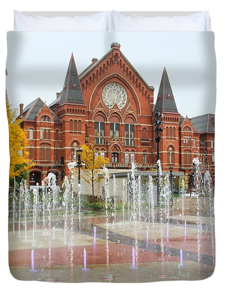 Cincinnati Music Hall 0001 Duvet Cover