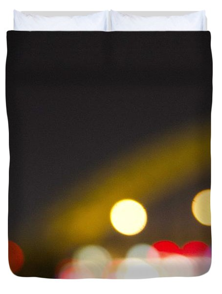 Cincinnati Night Lights Duvet Cover