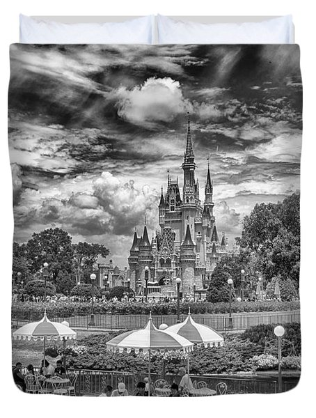 Duvet Cover featuring the photograph Cinderella's Palace by Howard Salmon