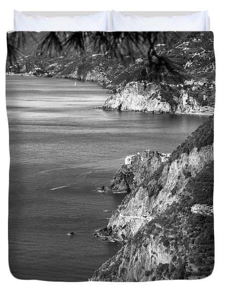 Cinque Terre Coastline Duvet Cover