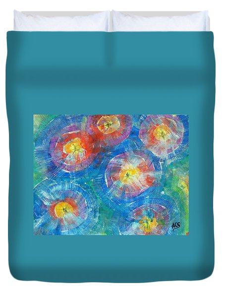 Circle Burst Duvet Cover