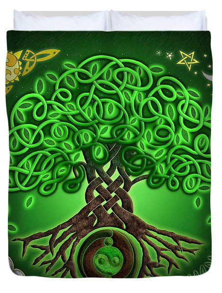 Circle Celtic Tree Of Life Duvet Cover