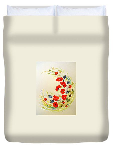 Circle Of Poppies Duvet Cover