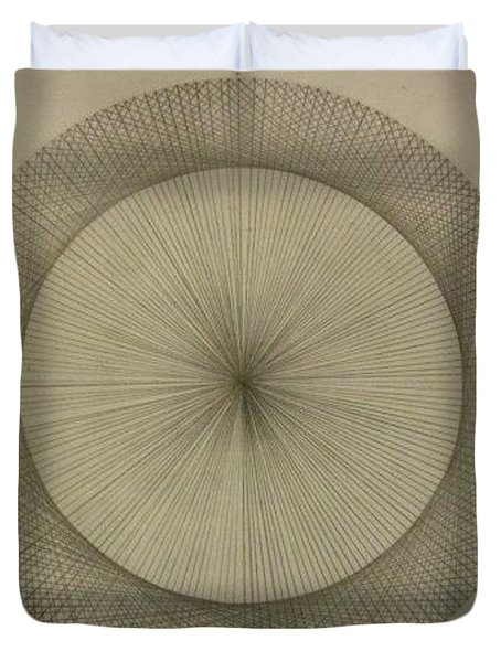 Duvet Cover featuring the drawing Circles Don't Exist Two Degree Frequency by Jason Padgett