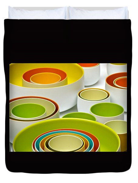 Duvet Cover featuring the photograph Circles Squared by Ira Shander