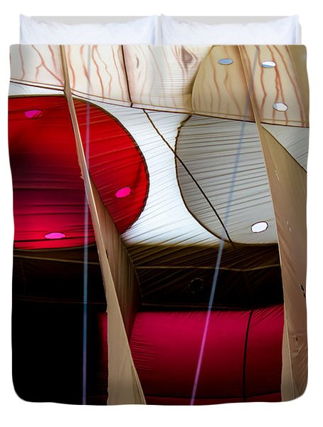 Circles Within Circles - Inside A Hot Air Balloon Duvet Cover