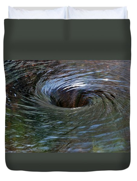 Duvet Cover featuring the photograph Circling by Wendy Wilton