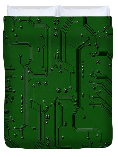 Circuit Board Duvet Cover by Bedros Awak