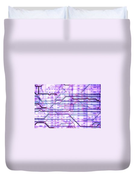 Circuit Trace Duvet Cover by Jerry McElroy
