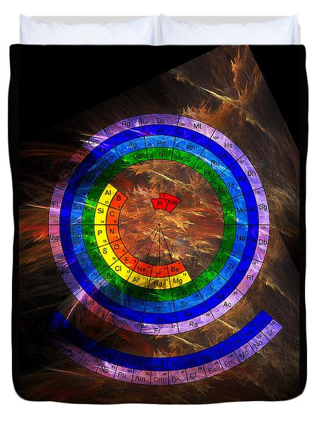 Circular Periodic Table Of The Elements Duvet Cover