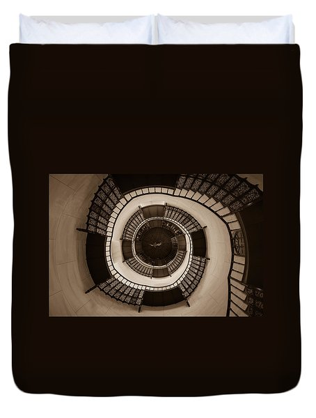 Circular Staircase In The Granitz Hunting Lodge Duvet Cover by Andreas Levi