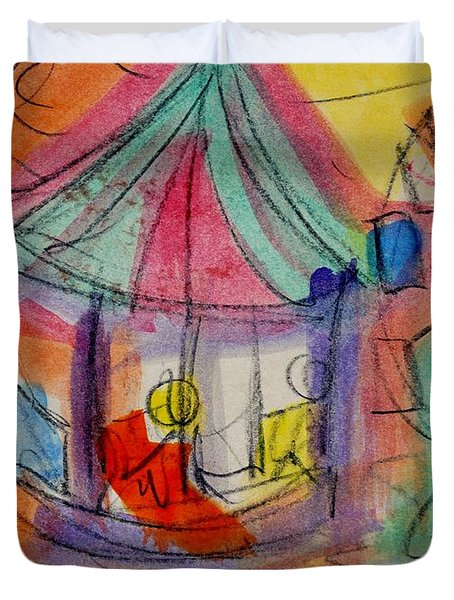 Circus Duvet Cover by Erika Chamberlin