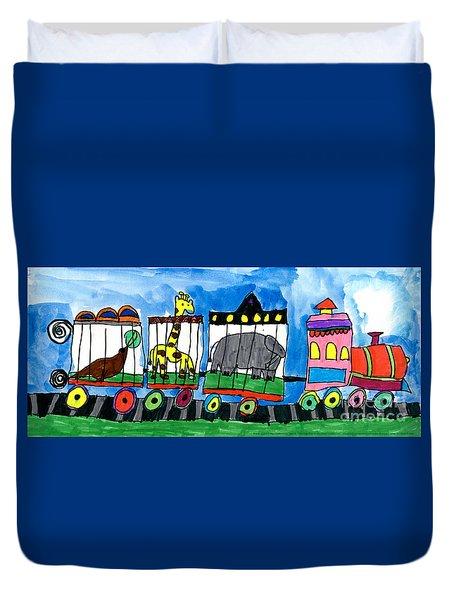 Circus Train Duvet Cover