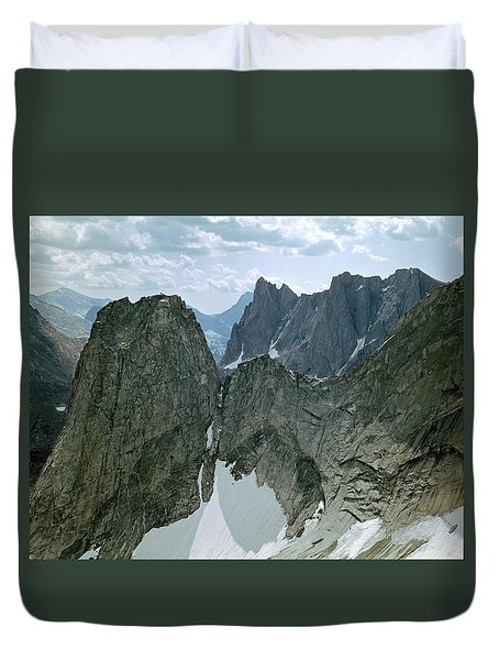 209615-cirque Of Towers, Wind Rivers, Wy Duvet Cover