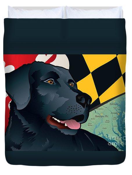 Maryland Black Lab Duvet Cover