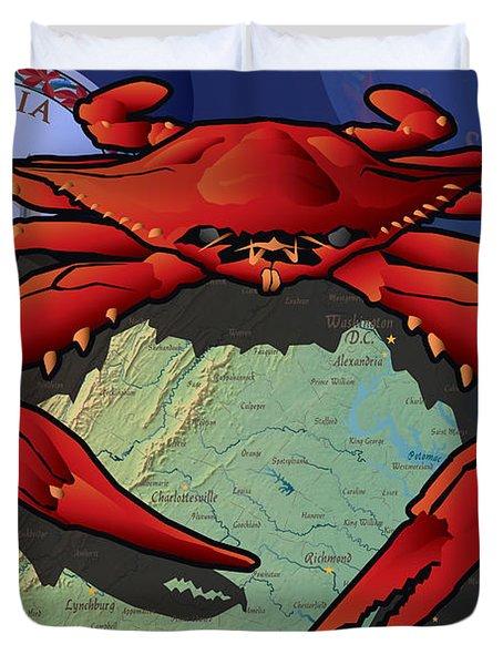 Citizen Crab Of Virginia Duvet Cover