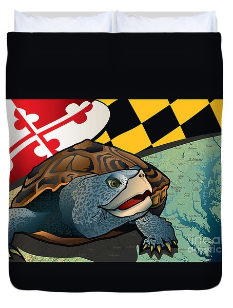 Citizen Terrapin Maryland's Turtle Duvet Cover