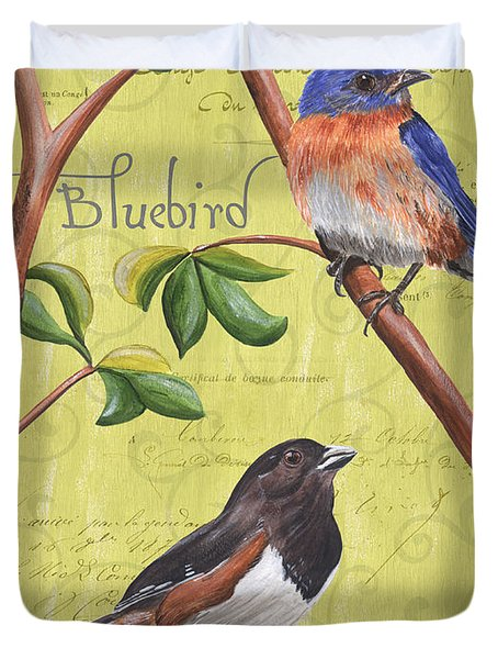 Citron Songbirds 1 Duvet Cover