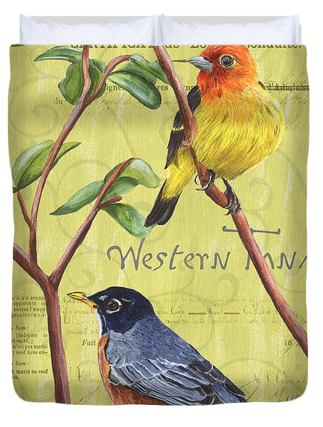 Citron Songbirds 2 Duvet Cover